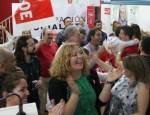 Ambiente PSOE Motril tras conocer datos finales mesas electorales Europeas 2014
