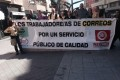 LOS TRABAJADORES DE CORREOS MOTRIL SE MANIFIESTAN POR LAS CALLES DE MOTRIL (Foto: Archivo El Faro)