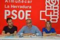 EL NUEVO GRUPO MUNICIPAL DEL PSOE SEXITANO CON SERGIO ALABARCE (centro) (Foto: El Faro)