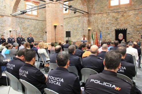 LA PLANTILLA DE LA POLICÍA LOCAL REUNIDA EN EL DÍA SU PATRONA (Foto: Archivo El Faro)