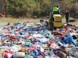 TRABAJOS DE DESTRUCCIÓN DEL MATERIAL DECOMISADO (Foto: El Faro)