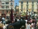 PROCESIÓN DEL CORPUS CHRISTI EN LA PUERTA NORTE DE LA IGLESIA DE LA ENCARNACIÓN (Foto: El Faro)