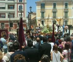 PROCESIÓN DEL CORPUS CHRISTI EN LA PUERTA NORTE DE LA IGLESIA DE LA ENCARNACIÓN (Foto: Archivo El Faro)