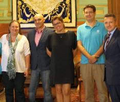 Presentación del proyecto 'La Estrella Azul' de la asociación CONECTA y la 'Obra Social La Caixa' (Foto: El Faro)