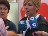 INMACULADA OMISTE DE IZQUIERDA UNIDA, ATIENDE A LOS MEDIOS (Foto: Archivo El Faro)