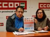 RICARDO FLORES Y Mª JOSÉ LÓPEZ OFRECEN LOS DATOS SOBRE LA PRECARIEDAD LABORAL (Foto: Archivo El Faro)