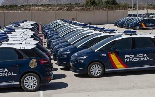 FLOTA DE VEHÍCULOS DE LA POLICÍA NACIONAL (Foto: Archivo El Faro)