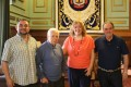 (De izq a dcha): MIGUEL ÁNGEL MUÑOZ, WILDER BARCOS, FLOR ALMÓN Y ANTONIO ESCÁMEZ EN LA PRESENTACIÓN DEL EVENTO DEPORTIVO (Foto: El Faro)