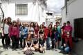 La coordinadora provincial del Instituto Andaluz de la Juventud (IAJ) en Granada, Elena C. Fernández Peñafiel, ha dado la bienvenida a los cincuenta participantes en el intercambio juvenil 'Alpujarras' (Foto: El Faro)