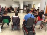 Algunos de los asistentes a las jornadas de sexualidad y discapacidad celebradas en Granada (Foto: El Faro)