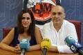 Gregorio Morales e Irene Justo en la presentación de los finalistas del Quisquilla Rock Motril (Foto: El Faro)