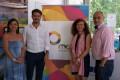 La teniente de alcalde Alciia Crespo, el delegado Guillemo Quero, Ana Artacho y el concejal Gregorio Morales (Foto: El Faro)