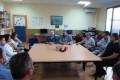 EL DELEGADO DE EDUCACIÓN, GERMÁN GONZÁLEZ, CON LOS RESPONSABLES DE EDUCACIÓN PARA ADULTOS (Foto: El Faro)