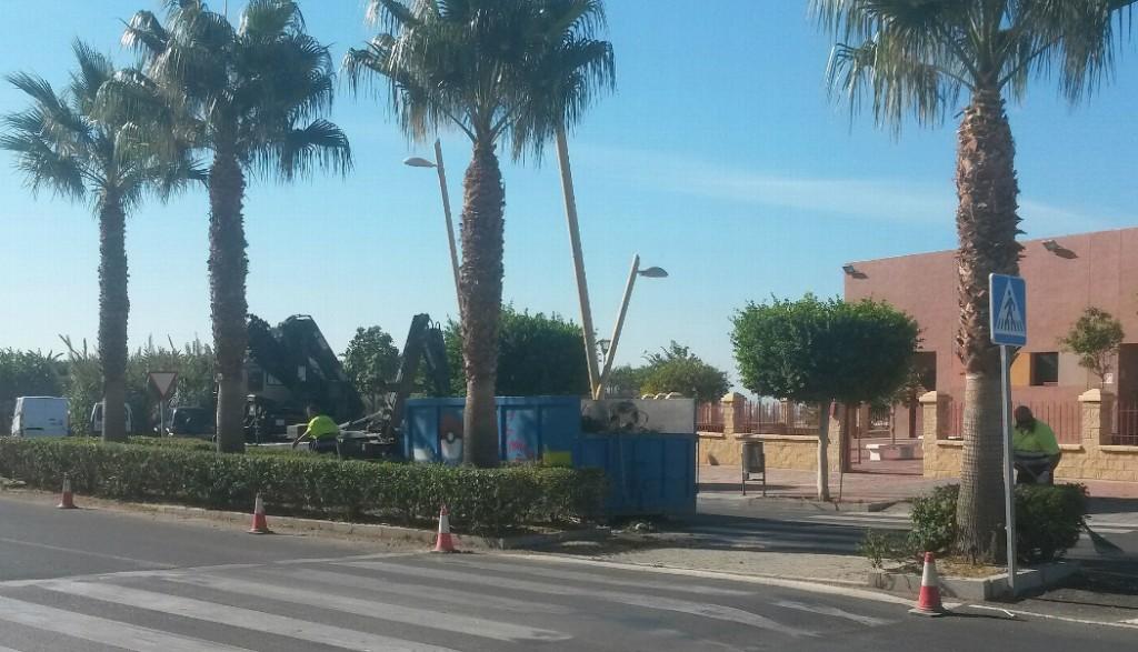 Parques y jardines acomete la poda de palmeras y rboles for Tanatorio los jardines carrizo