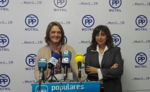 LUISA GARCÍA Y ÁNGELES LÓPEZ, EN RUEDA DE PRENSA (Foto: El Faro)
