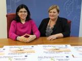 Susana Feixas e Isabel Maldonado en la presentación del taller Manejar el dinero en tiempos de crisis (Foto: El Faro)