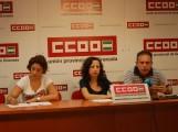 LOS REPRESENTANTES DE CCOO COMUNICAN EN RUEDA DE PRENSA LA CONTINUIDAD DE LA HUELGA (Foto: El Faro)