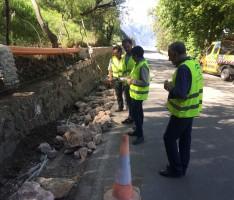 OBRAS DE ESTABILIZACIÓN EN LA VÍA DE ACCESO A CAPILEIRA (Foto: El Faro)