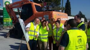 LAS AUTORIDADES RECIBEN INFORMACIÓN SOBRE LA OBRA A EJECUTAR (Foto: El Faro)
