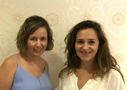 Lola Sánchez y Raquel García la portavoz y la coordinadora de Cs Motril (Foto: El Faro)