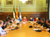 María Ángeles Escámez preside la reunión de la Junta de Prevención Local de Incendios Forestales (Foto: El Faro)