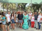 Flor Almón y miembros del equipo de Gobierno en la inauguración de la Feria de Día (Foto: El Faro)