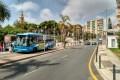 Parada de autobuses al lado de la Oficina de Turismo (Foto: El Faro)