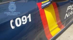 VEHÍCULO DE LA POLICÍA NACIONAL CON EL NÚMERO DE EMERGENCIAS 091 (Foto: P. Nacional)