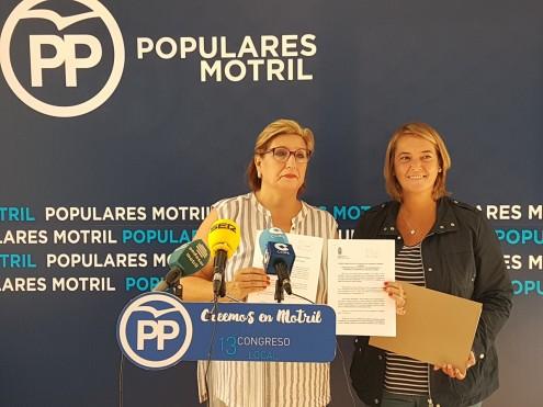 CONCHI ABARCA Y LUISA GARCÍA EN RUEDA DE PRENSA (Foto: El Faro)