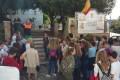 ACTO JUNTO AL MURAL QUE RECUERDA EL NAUFRAGIO DE LA ARMADA (Foto: El Faro)