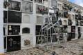 Nueva escalera adquirida para el cementerio municipal (Foto: El Faro)