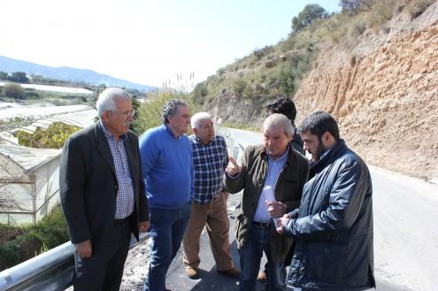 Visita a la finalización de las obras en la carretera de Los Tablones (Foto: El Faro)