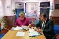 Momento de la firma del acuerdo de energia de la  Asociación (Foto: El Faro)