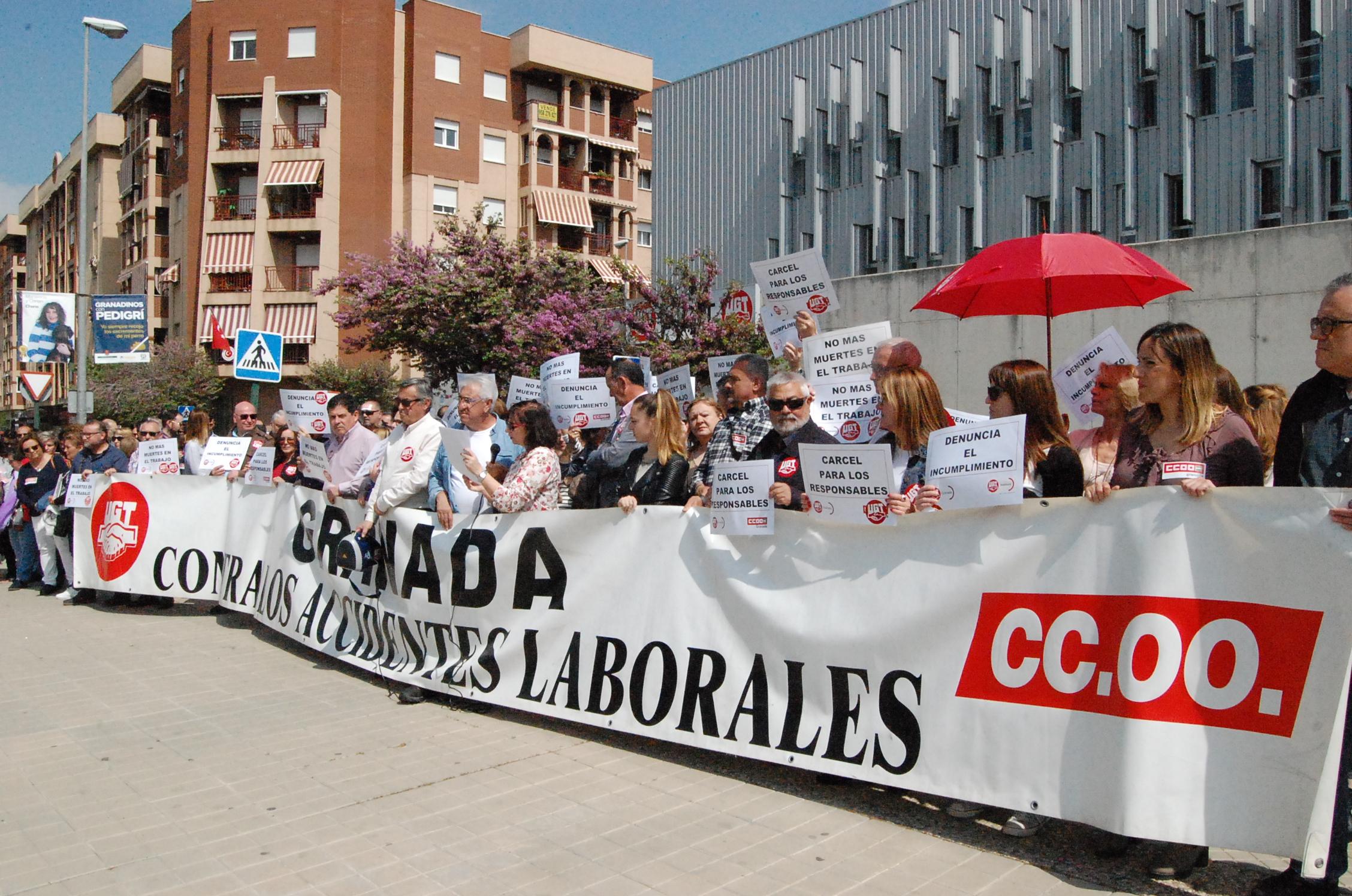 CONCENTRACIÓN LLEVADA A CABO POR LOS SINDICATOS (Foto: El Faro)