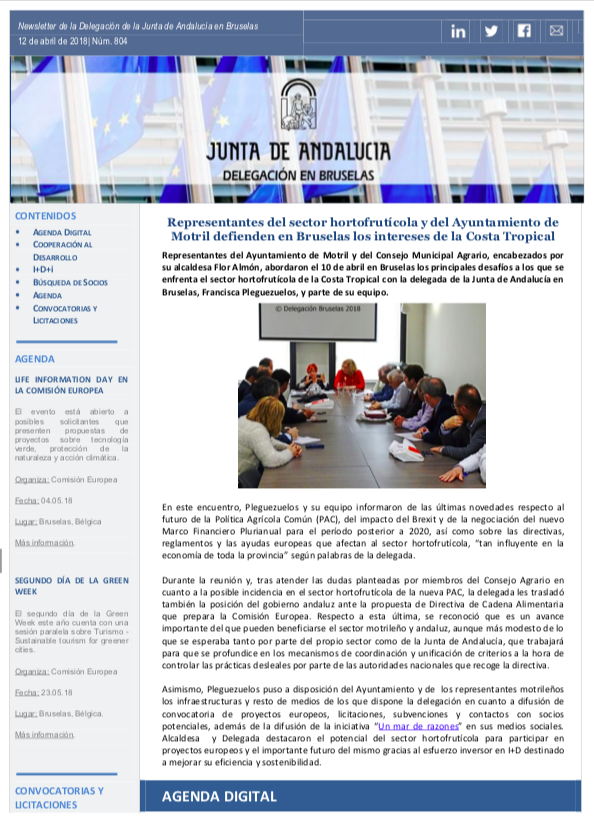Newsletter Junta en Bruselas