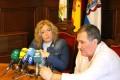 Flor Almón y Antonio Escámez en rueda de prensa (Foto: El Faro)