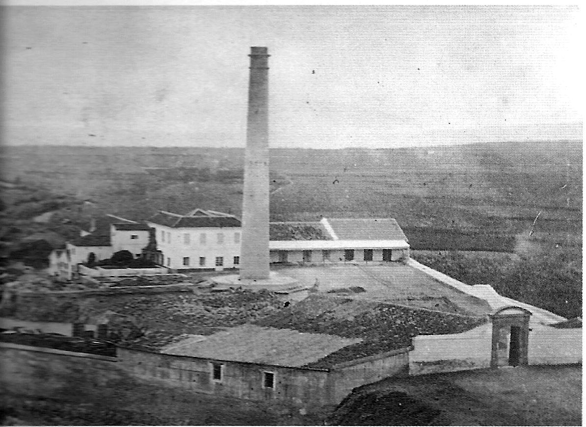 """Fábrica azucarera """"Nuestra Señora de la Cabeza"""", propiedad de la familia malagueña Larios"""