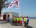 LA ALCALDESA JUNTO AL EQUIPO DE SEGURIDAD EN PLAYAS (Foto: El Faro)