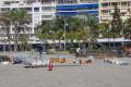 PREPARATIVOS DE LOS FUEGOS ARTIFICIALES EN PLAYA PUERTA DEL MAR DE ALMUÑÉCAR (Foto: El Faro)