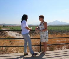 La subdelegada del Gobierno y la alcaldesa visitan las inundaciones (Foto: El Faro)
