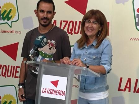 Daniela Paqué y Christian Linares, en rueda prensa (Foto: El Faro)