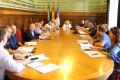 Momento de la Junta de Seguridad Local en el Salón de Protocolos (Foto: El Faro)