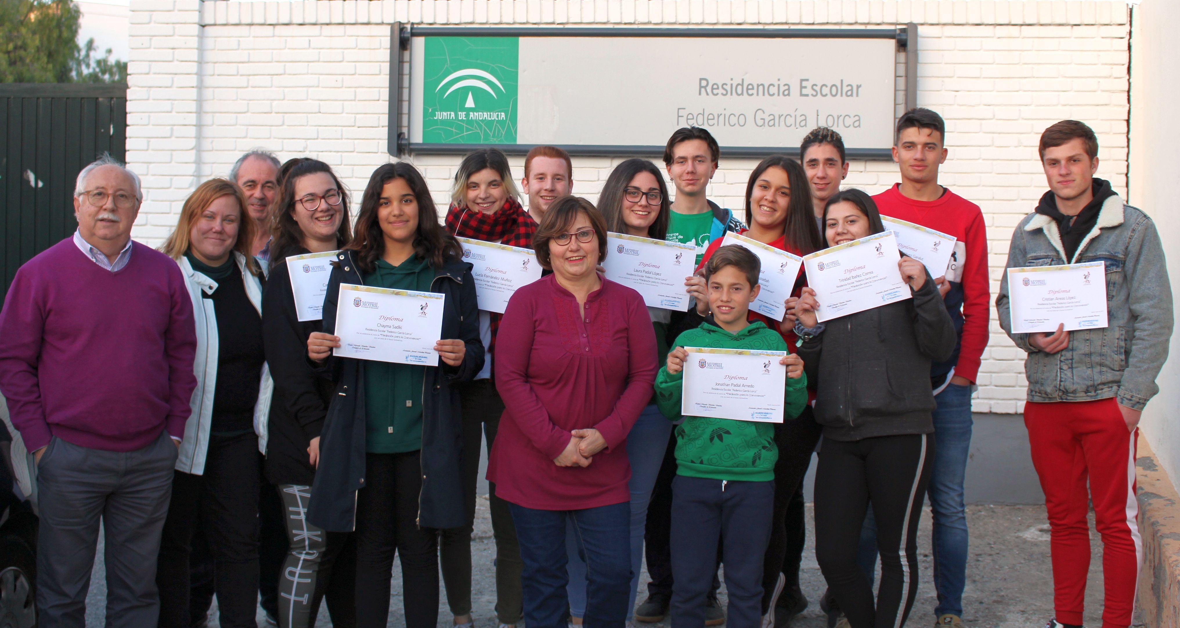 Entrega de Diplomas a los niños, niñas y jóvenes de la Residencia Federico García Lorca