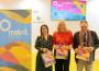 Flor Almón (cntro), Alicia Crespo y Antonio Escámez en la presentación del proyecto QR en FITUR 2019