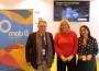 Flor Almón (cntro) Antonio Escámez y Alicia Crespo durante la presentación del proyecto La Travesía del Mar de Alborán en FITUR 2019
