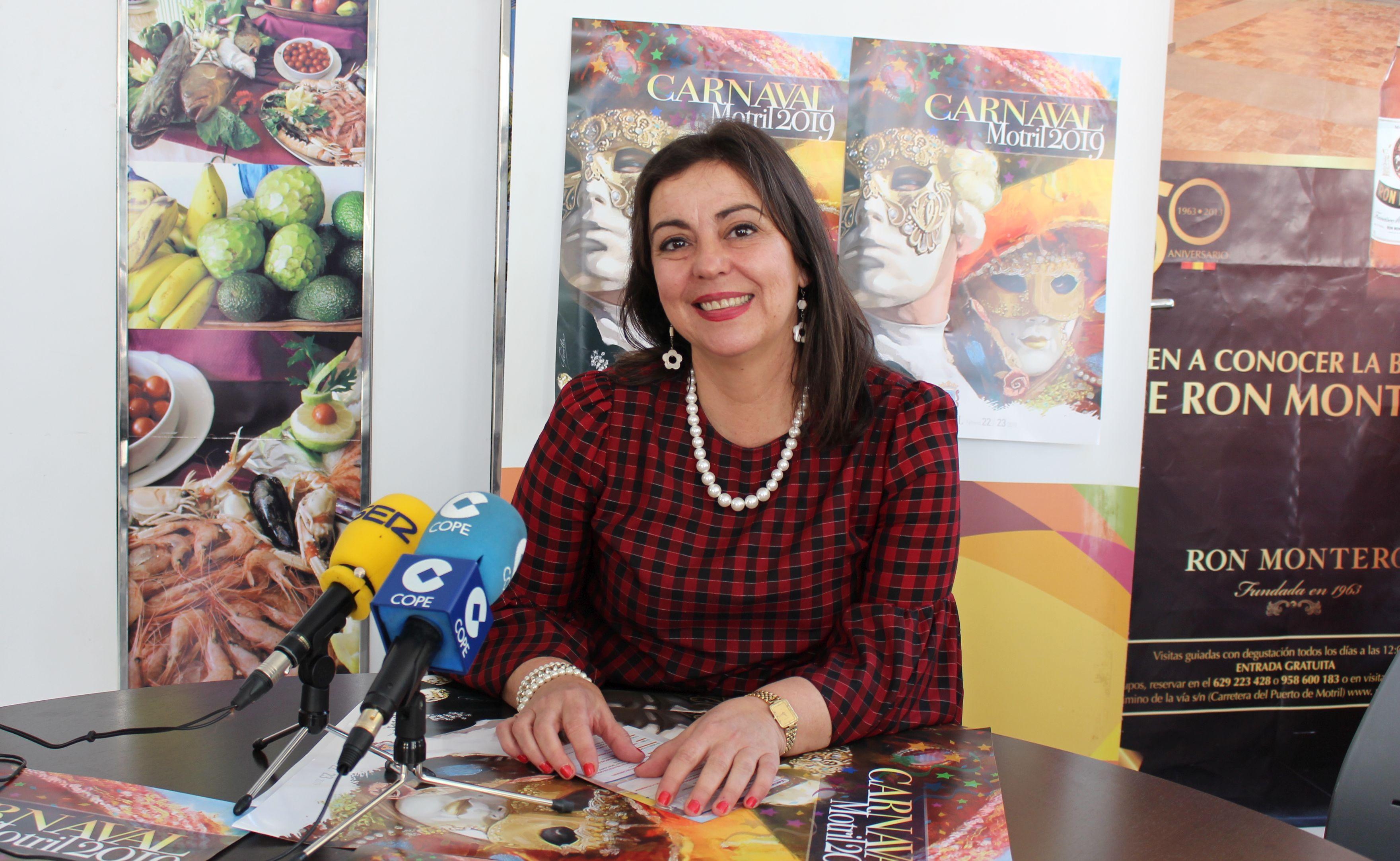 Alicia Crespo durante la presentación de la programación del Carnaval 2019