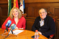 Flor Almón y Antonio Escámez en rueda de prensa