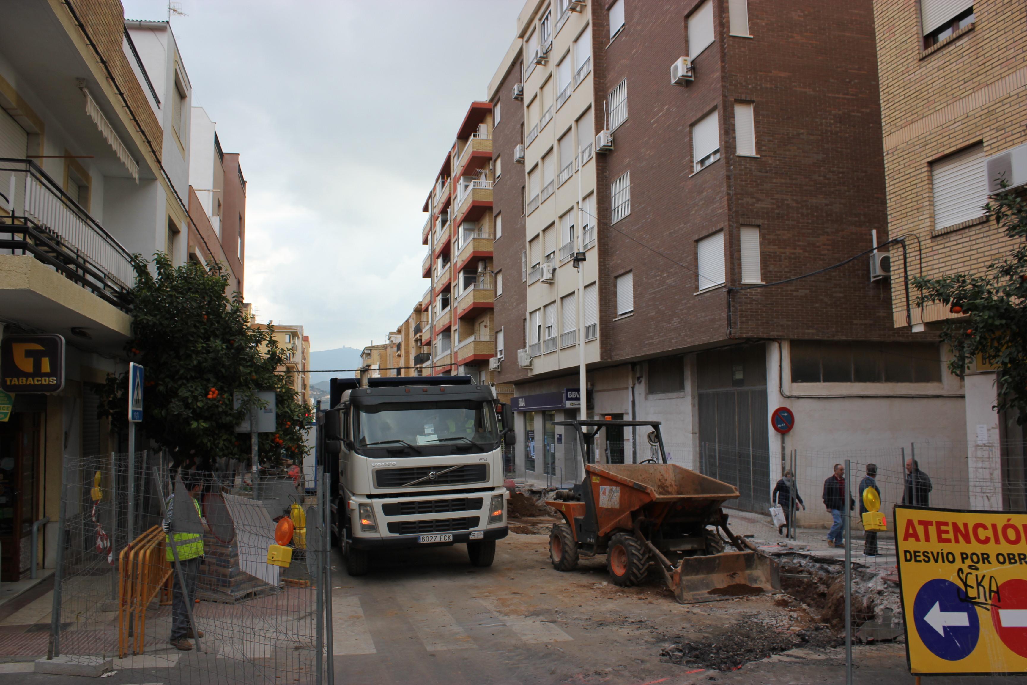 Foto de archivo de las obras en la calle Ancha