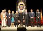 Foto de famlia con los premiados con las Medallas de Oro y el Hijo Predilecto