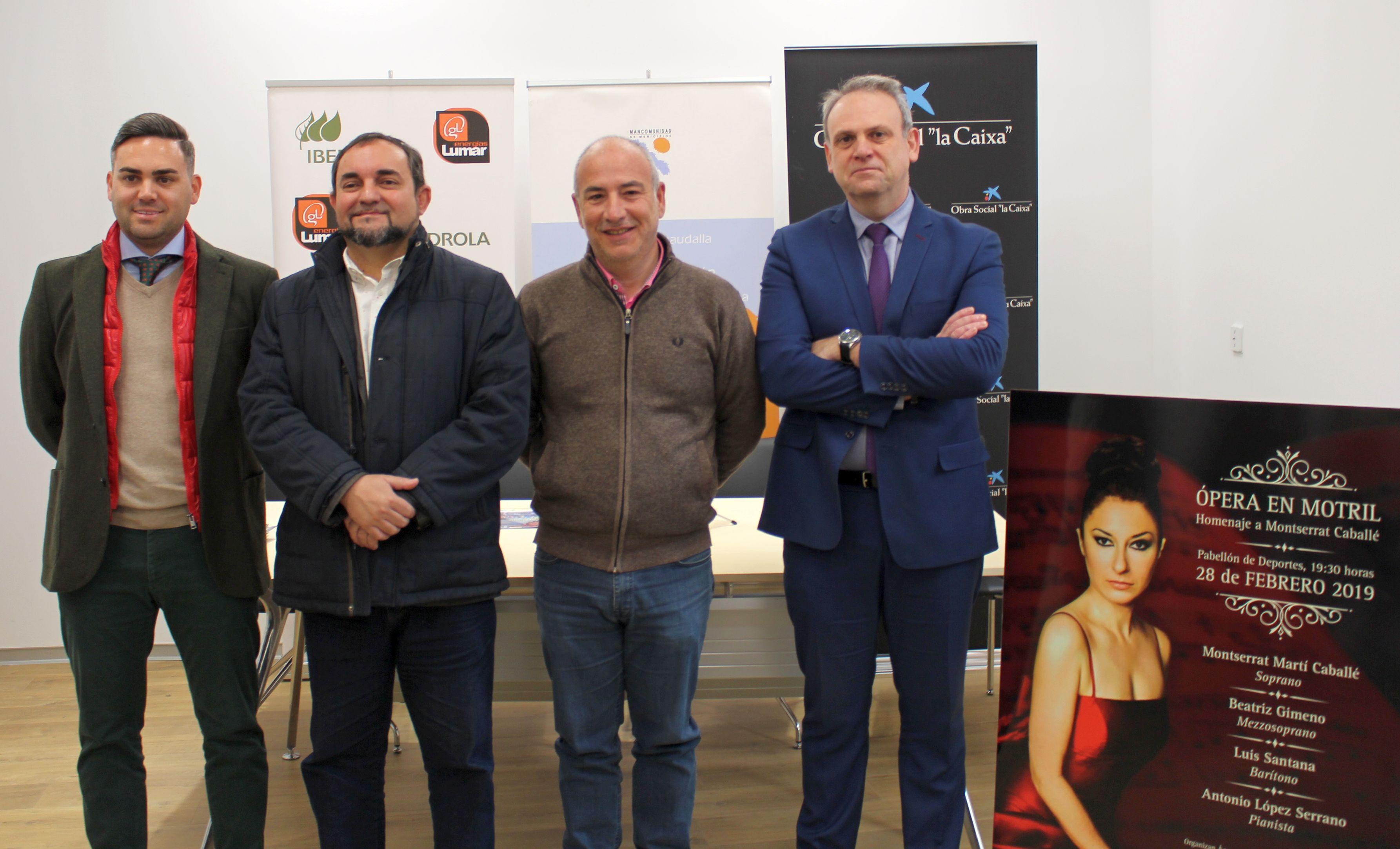 Miguel Ángel Muñoz, Sergio García, Antonio Linares (drcha) y Luis Martín (izrda)